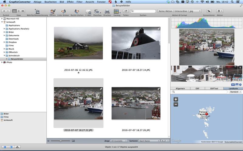 GraphicConverter 10.7 Adds Dehaze Batch Action, New JPEG Convert Service Image
