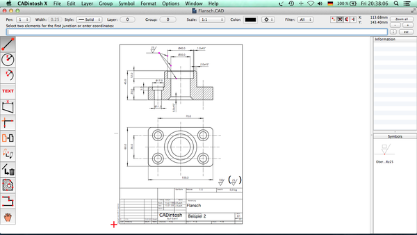 2D CAD Program CADintosh 8.5 Adds DWG Export, WYSIWYG Font Menu, More Image